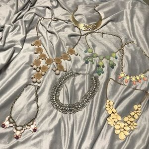 HUGE LOT OF STATEMENT NECKLACES